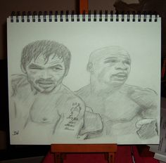 MAYWEATHER VS PACQUIAO FIGHT/GRAPHITE PENCIL DRAWING BY ARTIST BW #Realism Pacquiao Fight, Sports Drawings, Graphite, Pencil Drawings, Design Inspiration, Inspired, Artist, Graffiti, Artists