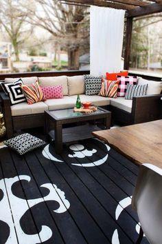 O podea pictata transforma orice loc - 15 Idei de pus in aplicare