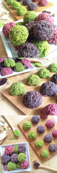 Matcha, Raspberry & Acai Macaroons {Gluten-Free, Low-Fat, Vegan}