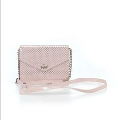 """Kate Spade Leather Crossbody Kate Spade New York Crossbody  •100% leather •Dimensions: 6""""L X 1""""W X 4""""H •Color: Light Pink •Like new condition, no sign of wear  BUNDLE for 10% off and low shipping cost.  Get ready for SPRING kate spade Bags Crossbody Bags"""