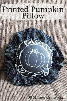 Printed Pumpkin Pillow