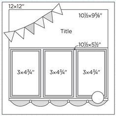 "12x12"" Scrapbook Page Sketches 241-270: Scrapbook Page Sketch 380"