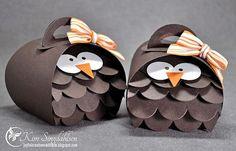 Little Owls—made using SU Curvy Keepsake Box Thinlit die, SU Large Scallop Edgelits Die, SU Large Scallop Edgelits Die
