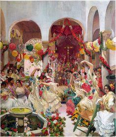 "flyartproductions: ""Drop it low at Seville Seville, the dance Joaquin Sorolla / Drop It Low, Ester Dean ft. Spanish Dance, Spanish Art, Dance Paintings, Spanish Painters, Artist Life, Seville, New Artists, Painting Inspiration, Les Oeuvres"