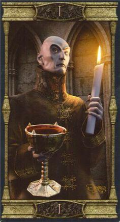 Review Lá I. The Magician - Vampires Tarot of the Eternal Night bài tarot