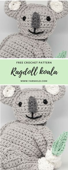 Free crochet pattern for this ragdoll koala bear. Beginner friendly !