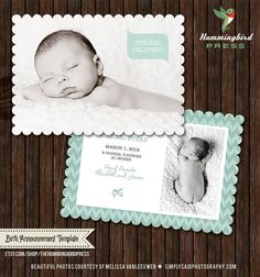 INSTANT DOWNLOAD  PSD 5x7 Birth by TheHummingbirdPress on Etsy, $8.00