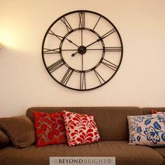 Bertha 101cm Wall Clock - Industrial Clocks - Silent Sweep Movement