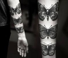 Butterfly dotwork tattoo by Kamil Czapiga
