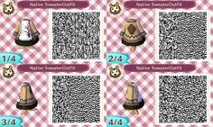 Native American Sweater Outfit - ACNL QR Code