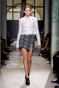Balenciaga Spring 2014// Learn how to hand render lace: http://www.universityoffashion.com/lessons/rendering-lace/