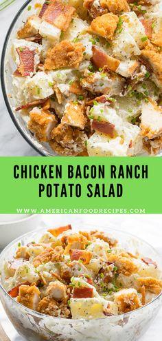 Chicken Bacon Ranch Potato Salad - American Food Recipes