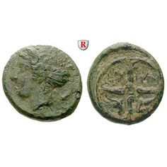 Sizilien, Syrakus, Zweite Demokratie, Bronze, ss: Zweite Demokratie 466-406 v.Chr. Bronze 16 mm. Kopf der Arethusa l. / SYPA und… #coins