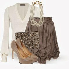 Get Inspired by Fashion: Classy Outfits | Sophia Kokosalaki Skirt