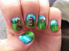Hand painted nail art.  Summer challenge  Theme: dream destination