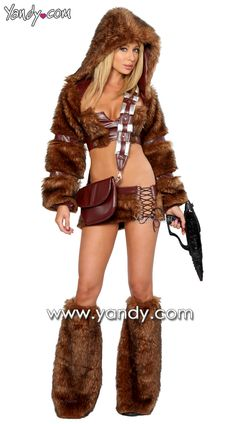 I'm totally going as this Chewbacca Stripper for Halloween.
