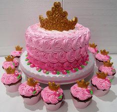Barbie Birthday Party, Birthday Cake Girls, Princess Birthday, Elegant Birthday Cakes, Beautiful Birthday Cakes, Mini Dessert Cups, Mini Desserts, Princess Aurora Party, Aurora Cake