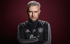 Download wallpapers Jose Mourinho, football manager, Premier League, MU, Manchester United