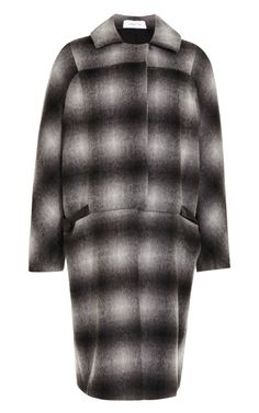 Shop Ombre Plaid Wool-Blend Oversized Coat by 10 Crosby Derek Lam Now Available on Moda Operandi