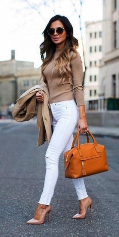 40 Trendy Work Attire & Office Outfits For Business Women Classy Workwear for Professional Look classy casual outfits - Casual Outfit Casual Work Outfits, Winter Outfits For Work, Work Casual, Outfit Work, Stylish Outfits, Classy Casual, Classy Chic, Spring Outfits, Outfit Winter