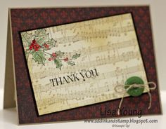 Holly and some Music by genesis - Cards and Paper Crafts at Splitcoaststampers