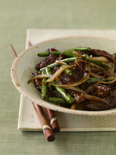 Black Pepper Beef with GreenBeans - Read More at Relish.com