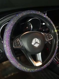 Pull up looking channeling your inner diamond princess driving your car with our blinged-out World Wide Beautie EXTRA AF Bling Steering Wheel. # girly car accessories World Wide Beautie EXTRA AF Bling Steering Wheel Mercedes Auto, Mercedes Stern, Mercedes Girl, Maserati Ghibli, Maserati Suv, Bling Car Accessories, Car Interior Accessories, Honda Civic Accessories, Mercedes Accessories