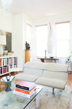 """geraldine duskins curated home tour - unsigned """"Cocoon"""" wall sculpture, Jiro…"""