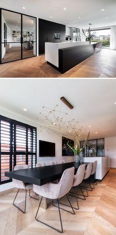 Modern home design – Home Decor Interior Designs Kitchen Interior, Modern Interior, Home Interior Design, Interior Architecture, Kitchen Decor, Kitchen Dining, Kitchen Ideas, Modern Kitchen Design, Modern House Design