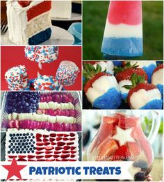 Patriotic Foods, Red White Blue Foods, Memorial Day Foods