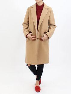 マキシ丈チェスターロングコート|NIZIIRO(ニジイロ) /  NIZIIRO ONLINE STORE #fashion #coats #チェスターコート