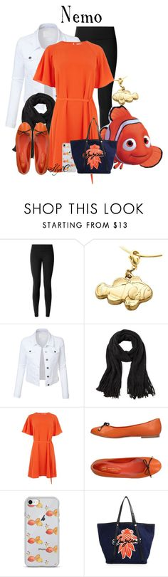 """Nemo - Disney Pixar's Finding Nemo"" by rubytyra ❤ liked on Polyvore featuring lululemon, LE3NO, Steve Madden, Warehouse, Saint-Honoré Paris Souliers and See by Chloé"