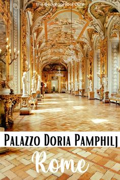Heading to Rome and looking for some unusual things to do? Here's my guide to visiting the under-appreciated and art-filled Doria Pamphilj Palace in Rome. This lovely museum is a hidden gem in Rome, housed in a lavish 17th century Roman-Rococo palace. Owned by Italian aristocracy, the dazzling collection includes work by Bernini, Caravaggio, Velazquez, and Raphael. If you want to escape the every-present crowds, this is one of the best things to do and see in Rome. Rome Destinations