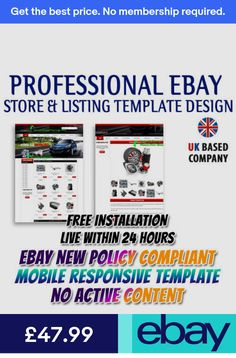 Get EBAY SHOP DESIGN, #EBAY #AUCTION #LISTING HTML #TEMPLATE FOR ...
