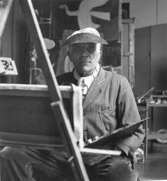 Georges Braque à la visière  Robert Doisneau, 1953