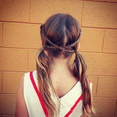 Cute hair style for a sport or just wear out in public.