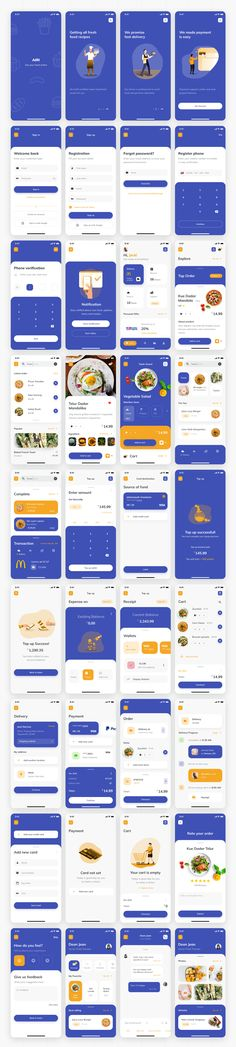 AIRI UI Kit - App Templates - Ideas of App Templates - Airi is premium UI kit template for food delivery order. Include 36 screens organized and 6 category designed with high quality modern style. Its ready for Sketch and Figma. Sitemap Design, Mobile Ui Design, App Ui Design, User Interface Design, Android App Design, App Design Inspiration, Application Design, Software, Ui Kit