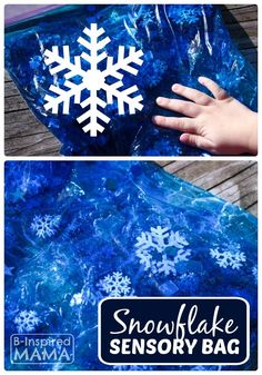 Snowflake Sensory Bag for No-Mess and No-Cold Winter Sensory Play! - B-Inspired Mama (scheduled via http://www.tailwindapp.com?utm_source=pinterest&utm_medium=twpin&utm_content=post505615&utm_campaign=scheduler_attribution)