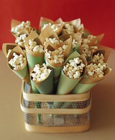 Southwestern popcorn in cones made out of paper
