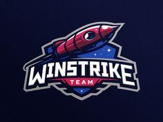 Winstrike team logo by Dlanid 🍁 on Dribbble Lacrosse, Team Logo Design, Logo Desing, Game Design, Ninja Logo, Rockets Logo, Certificate Design Template, Sports Team Logos, Sports Shirts