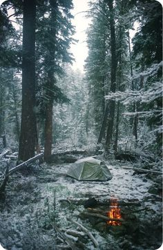 Winter camping.
