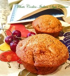 """If you want the best recipe for cherry muffins, you have just hit the jackpot! These muffins are light, rise perfectly and taste fantastic! Fresh bing cherries make these muffins the perfect summer brunch, breakfast or dessert! Cherry Desserts, Cherry Recipes, Just Desserts, Cherry Bread, Cherry Muffins, Fruit Bread, Quick Bread Recipes, Muffin Recipes, Breakfast Items"