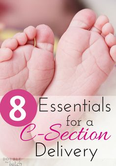 After my last delivery, I wished I had known how to pack for a c section! Here are the 8 essentials that I packed or WISHED I had packed!