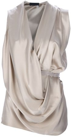 Lanvin Sleeveless Draped Top v Lanvin, Style And Grace, My Style, Cowl Neck Top, Work Attire, Swagg, Cute Tops, Ideias Fashion, How To Wear