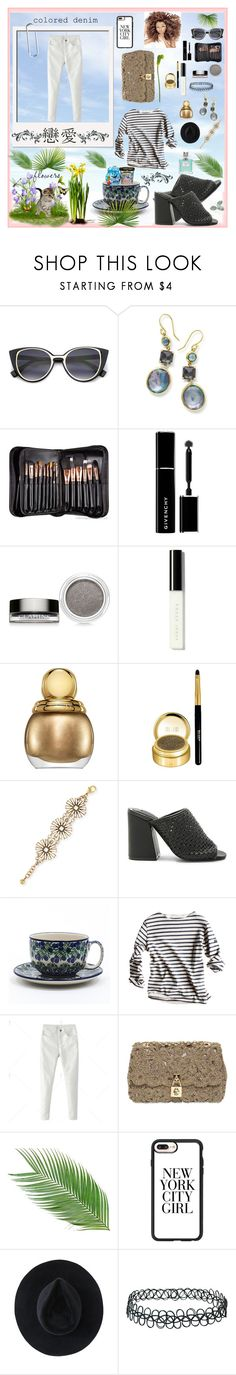 """""""Colored denim"""" by angelihenkle ❤ liked on Polyvore featuring Ippolita, Sigma, Givenchy, Clarins, Bobbi Brown Cosmetics, Christian Dior, Milani, Lulu Frost, Jaggar and Bunzlau Castle"""