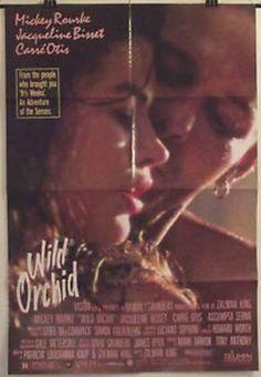 WILD ORCHID - MICKEY ROURKE / CARRE OTIS - ORIGINAL USA ONE SHEET MOVIE POSTER