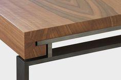 Details we like / Table / Connection / Metal Frame / Furniture / at Design Binge
