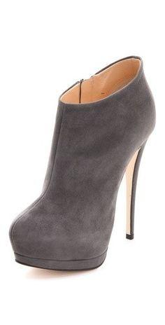I love grey suede booties!
