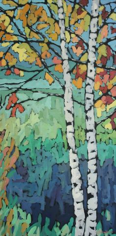 birches!Perhaps tacky glue on black paper- add pastels in spaces- brayer over high glue lines with black tempera- touch up with pastels. (would this work with craypas?)