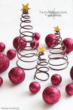 DIY draht Weihnachtsbäume